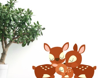 Deer Family Removable Wall Sticker
