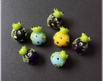 Pearls glass frogs different color