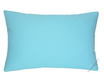 Sky Blue Solid Decorative Throw Pillow Cover / Pillow Case / Cushion Cover / Cotton / 12x16""