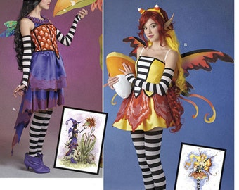 Misses' Amy Brown Fairy Costume Pattern Simplicity 245 Size 6-14 Bust 30-36 UNCUT