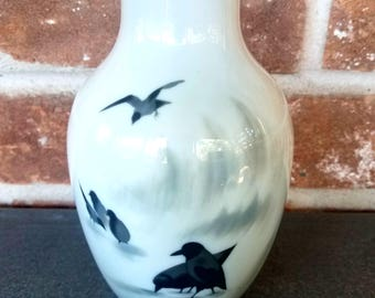 Vintage Japanese Porcelain Vase, Japanese Ceramics, Oriental Art