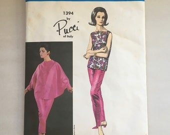 Vintage Uncut Vogue Couturier Pucci Sewing Pattern Large Designer Pattern