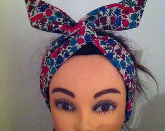 Handcrafted wired Liberty of London fabric headband