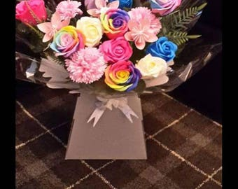 Beautiful soap rose box bouquet