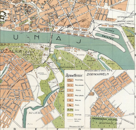 Bratislava Old Map Slovakia Bratislava Slovakia Old Maps