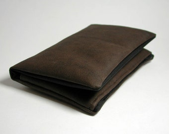"""Tobacco pouch, Wallet, Mobile Phone pouch """"brown"""""""