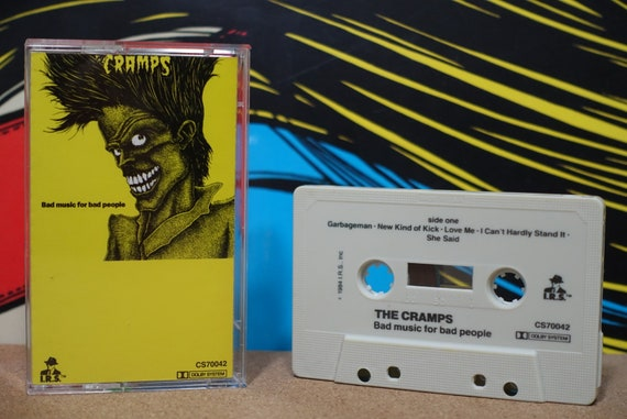 Bad Music For Bad People by The Cramps Vintage Cassette Tape
