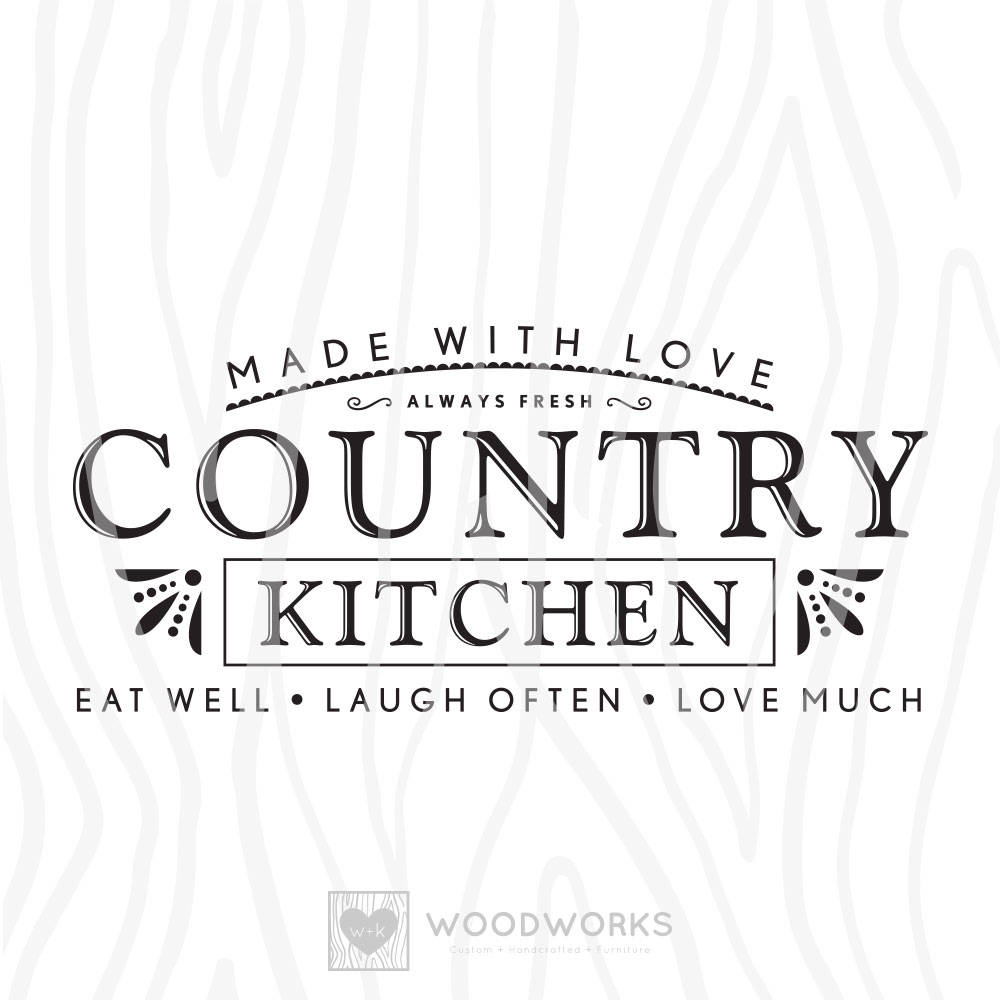 SVG / DXF Made With Love Country Kitchen Eat