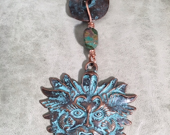 Greenman Pendant Necklace
