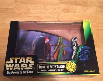 Kenner Star Wars Jabba The Hut's Dancers Rystall Greeata Lyn Me New Sealed, 1998