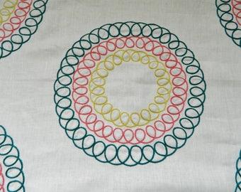Robert Allen Pera Palace Marrakech Green-Decorative Throw Pillow Cover Euro Sham Lumbar Cover / Embroidered Medallion Suzani Pattern Linen