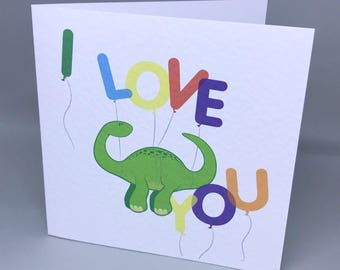 I love you Diplodocus - love card