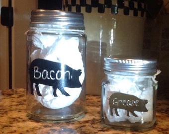 Bacon Grease Jar - Grease Container