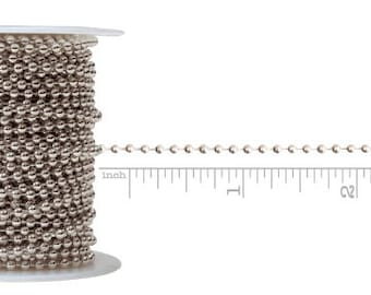 Ball Chain-Slv 25ft/ Per Spool