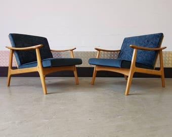 SALE SALE SALE - 1 of 1 Mid Century Danish Armchair Upholstered Vintage Restored