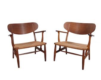 Hans Wegner CH22 Lounge Chairs Carl Hansen