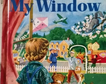 Vintage Out of my window Little golden Book 1955