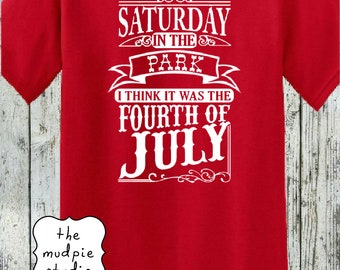 Saturday in the Park July 4 Patriotic - Summer July 4 Graphic Shirt Adult Youth
