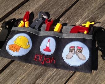 Kids personalised tool belt / toolbelt with tools included