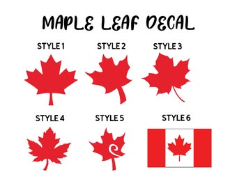 MAPLE LEAF DECAL, Canada Decal, Canadian Decal, Maple Leaf Sticker, Canada Sticker, Canadian Sticker, Canada Gift, Canadian Pride, Canada