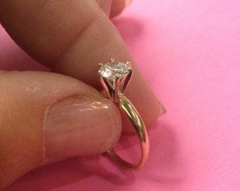 14k -.80ct Diamond Solitaire Ring