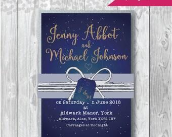 Bundle Invitation A6 or A5 Constellation Design -  Wedding Invitation