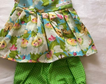 Flowers and Green Spots Two Piece Set Size 00