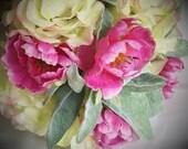 Bright pink ranunculus, h...