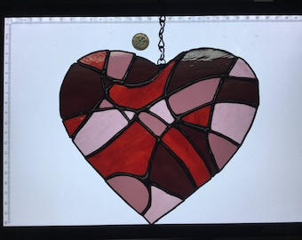 Heart Collage in Stained Glass