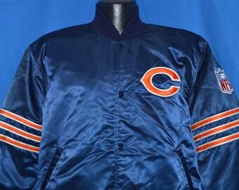 80s Chicago Bears Satin Jacket Large