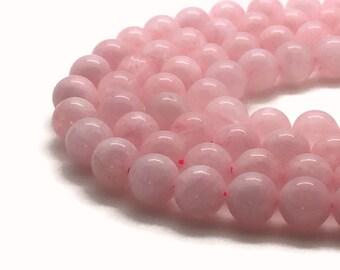 """Natural Rose Quartz Beads Grade A 4∼14mm Strand 15.5""""-38cm Natural Quartz Gemstone Quartz Rose Pink Gemstone Round Quartz Mala Beads"""