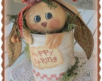 Primitive Bunny Pattern Hoppy Spring Bunny n' Sifter Easter Pattern