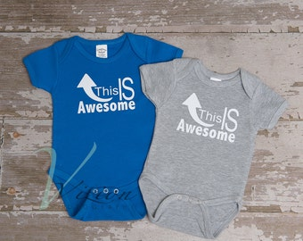 Awesome, baby newborn Romper, creeper, baby romper, newborn outfits, newborn clothing, children's t-shirts