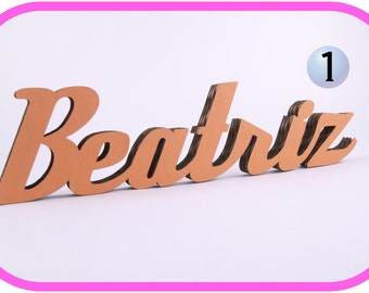 Customized cardboard letters