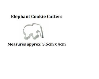 Very small elephant cookie cutter for cake cupcake decoration
