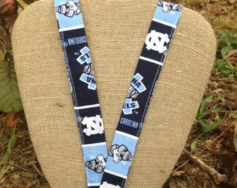 UNC University of North Carolina Tarheel Lanyard Badge Holder ID Holder