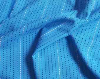 Sale!! Dotted Line Cobalt Woven Fabric Yardage by Anna Marie Horner Loominous