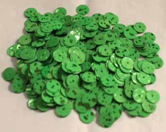 100 Neon Green Color/ Round Sequins/Glittering Dotted Texture/ KBRS576