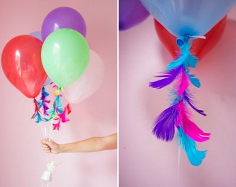 Balloon Tail Feather Streamer Feather Balloon Tassel Birthday Decoration Balloon Garland Party Decorations Feather Garland Feather Banner