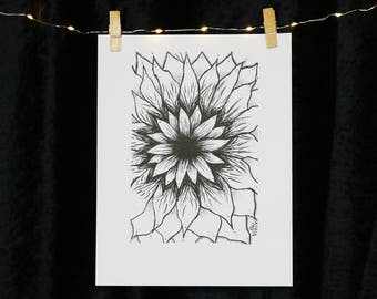 The Forever Sunflower Original Art Print
