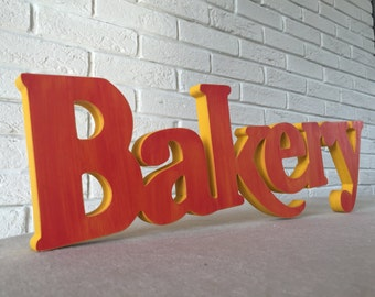 Bakery Wooden Sign - Bakery Sign for a cafe, restaurant -  Rustic Wooden Bakery Sign, home decor