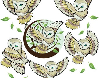 Instant Download Owl Logo set 3
