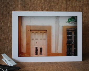 Merida, Mexico Card, White Worn Door, Urban Decay Photography, Travel Cards, 2 Pack, Merida Mexico, Architecture, Blank Greeting Card