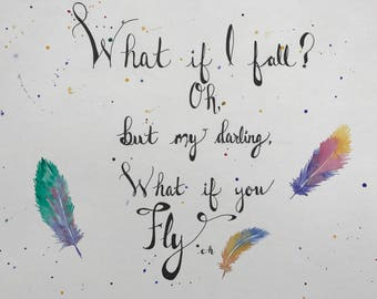 """Erin Hansen - """"What if I fall-"""", watercolor"""