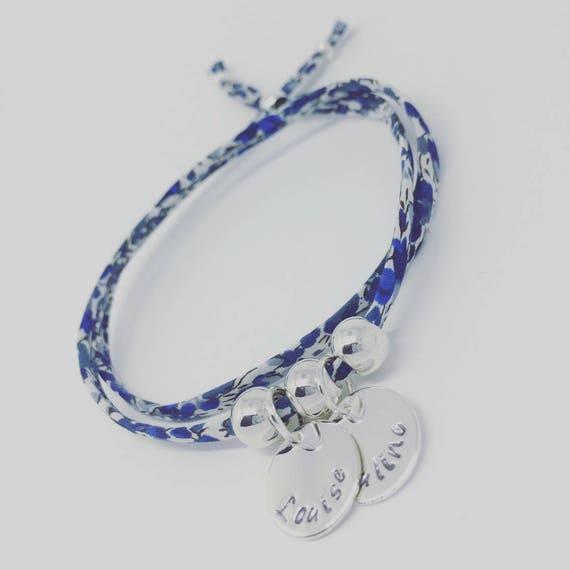 Grigri ★ MOM Liberty Bracelet Liberty with 2 custom ENGRAVINGS ★