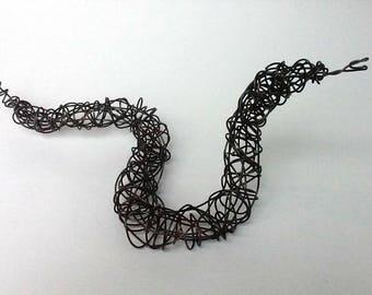 Unique Wire Sculpture - BLACK SNAKE