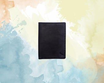 Wallet, Leather Wallet, Slim Wallet, Minimalist - Everyday Wallet (black)