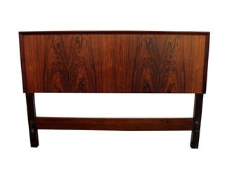 Mid-Century Danish Modern Rosewood Full Size Headboard by Seffle