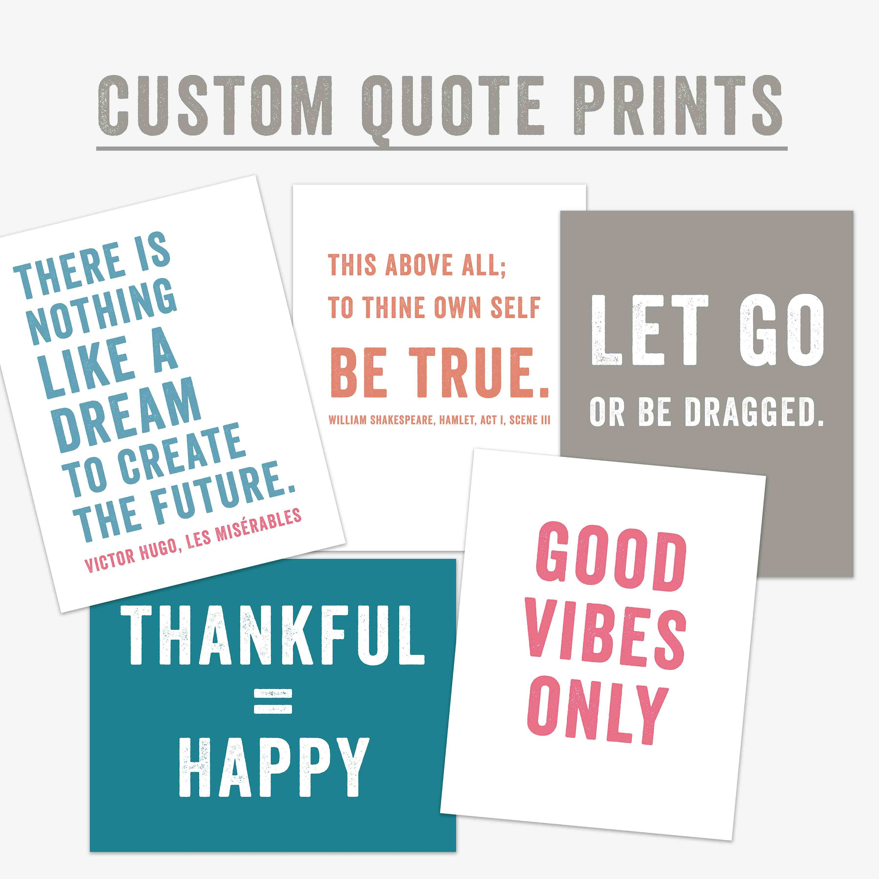 Custom Quote Prints Your Quote Here Mantra Custom Quote Print Personalized Gift