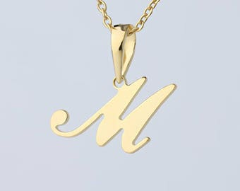 Initial Necklace 18K Gold Plated Necklace, Xmas Gift, Custom Made Initial Necklace in Gold Christmas Gift,gold initial, charm necklace